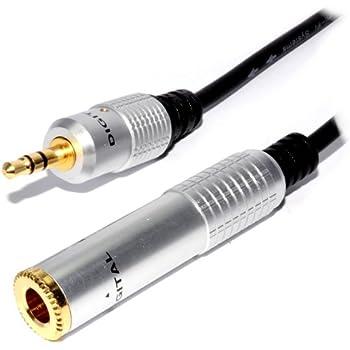 Reines Kupfer HQ OFC 3,5 mm Klinkenstecker Zum 6,35 mm Klinkenstecker Buchse Adapter Kabel 0,3 m 30 cm