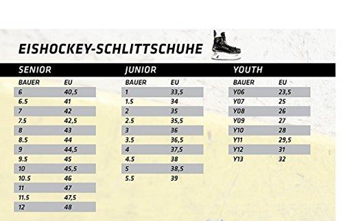 BAUER -  Supreme S 140 Eishockeyschlittschuhe für Herren I Herrenschlittschuh I Profi-Schlittschuhe mit Knöchelpolster I anatomisch geformtes Fußbett I inkl. Mikrofaser-Futter - Schwarz