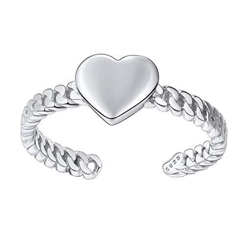 ChicSilver Corazón Amor Plata Esterlina 925 Platino