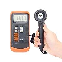 Digital Illuminance/Light Meter 400m W/cm UV Light Meter UVA LSI-circuit Tester UV Sensor With Light Correction Filter Data Peak Hold Function UVA365 Luxmeter