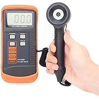 Easy Go Shopping Medidor de luz UV de 400m W/cm Medidor UVA LSI-Circuit Sensor UV con Corrección de luz Datos del Filtro Peak Hold Función UVA365