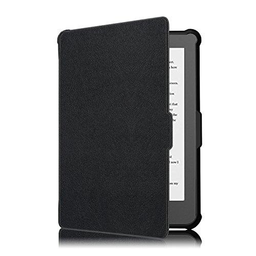 KOBO Klare HD Hülle - Ultra Dünn und Leicht PU Leder Schutzhülle Tasche mit Auto Aufwachen / Schlaf Funktion für KOBO Klare HD Touchscreen E-Book Reader 15,2 cm (6,0 Zoll) 2018 Modell, Schwarz