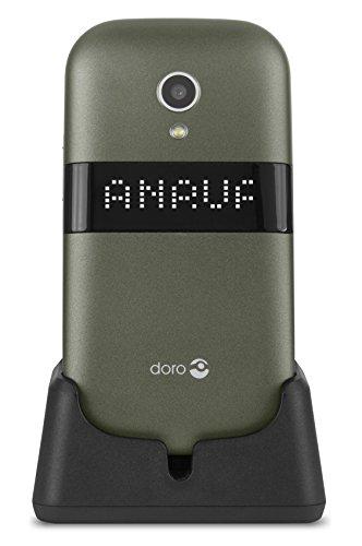 Doro Phone 6050 Telefono Cellulare, 32 MB, Oro/Bianco