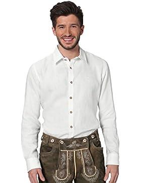 Stockerpoint Trachtenhemd Leinen Langarm Vincent weiß