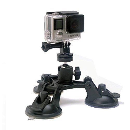 InnoMagi Triangolo Cup Supporto a auto Ventosa Universale Testa Sferica Regolabile a 360° per Videocamere DSLR,GoPro Hero 3 4, Xiaomi Yi, SJCAM Altro Sports Fotocamera