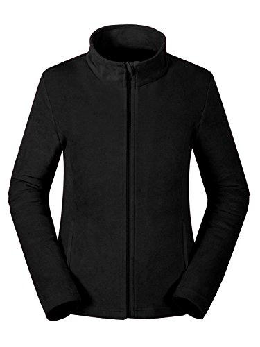Fleece-ski-jacke (aparso Damen Fleecejacke Fleece Pullover Fleeceshirt atmungsaktiv warm (S, Schwarz))