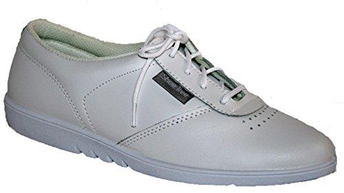 Damen Qualität, die weiche Leder Maschinenwaschbar Schnürschuhe 4Farben Weiß