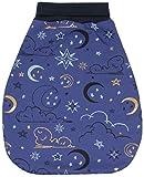 Balna Baby Schlafsack Strampelsack Schlupfsack gefüttert Mond Wolken Sterne - Handmade in Germany (50/56)