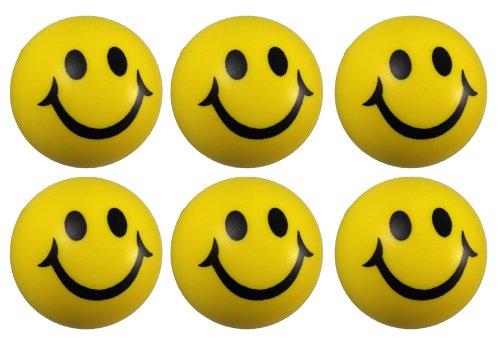 tschball Antistressball in Gelb Softball Schaumstoff (Smiley-bälle)