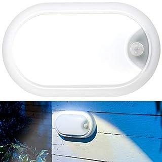 Luminea Lampe: LED-Feuchtraumleuchte, Bewegungssensor, 1.050 lm, 15 W, IP44, IK08 (Kellerleuchten Bewegungsmelder)