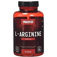 Prozis Complément de L-Arginine en comprimés (2400mg)-Booster d'oxyde nitrique-Soutient la synthèse protéique,la santé cardiovasculaire,la croissance musculaire et la performance physique-90 comprimés