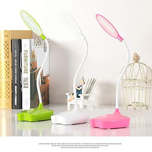 Faltbare Weiße Led-Tischlampe 3 Notenlampen-Schlafsaal Usb-Nachladbare Tischlampe Neues Grün 110 * 120 * 310Mm