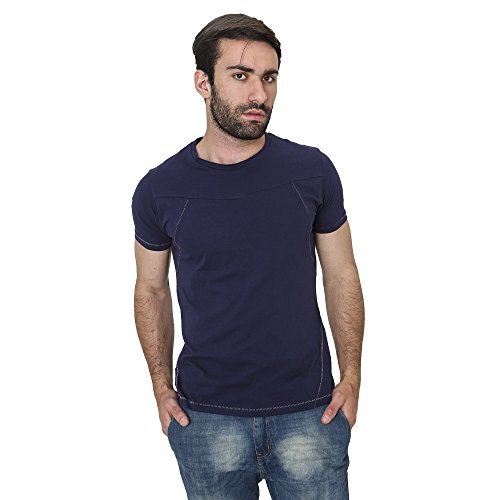 T-Shirt Männer Shirt in Baumwolle Sommer Casual Smiling London Marine