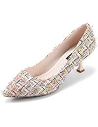 e794e874b ZCJB Zapatos De Primavera De La Mujer Zapatos De Tacón De Aguja A Rayas  Zapatos De Boca Poco Profundos ( Color…
