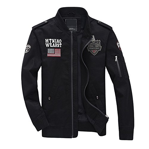 Newbestyle Frühling Herbst Jacken Herren Army Jacke Casual Militär Baumwolle Pilotenjacke (Militärischen Jacken Winter Männer Für)