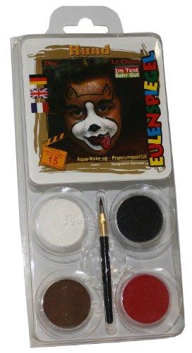 Eulenspiegel 204429 - Schminkset Hund, Pinsel und Anleitung, 4 (Kostüm Hund Kinderschminken Für)