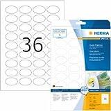 Herma Etiketten weiß Movables/ablösbar 40,6x25,4mm oval Special A4
