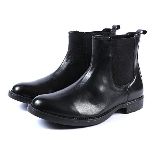 Herren-Stiefeletten, Leder, Klassischer Stil, Schwarz (EU 45, Schwarz)