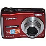 Olympus FE-340 8MP Digital Camera with 5X Optical Zoom (Red)