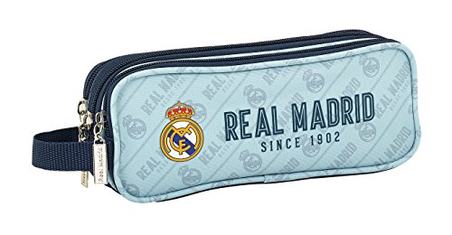 Safta Estuche Real Madrid Corporativa Oficial Triple cremallera 210x70x85mm