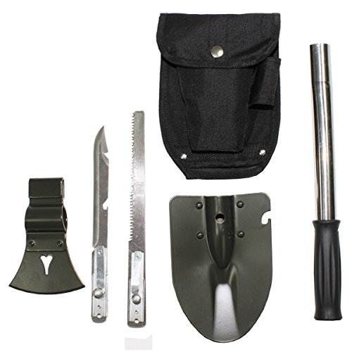 BKL1® Klappspaten Survival Multifunktions Set Säge Axt Messer Prepper EDC 467