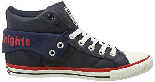 British Knights Roco Herren Hohe Sneakers Blau (Navy-Red 16)