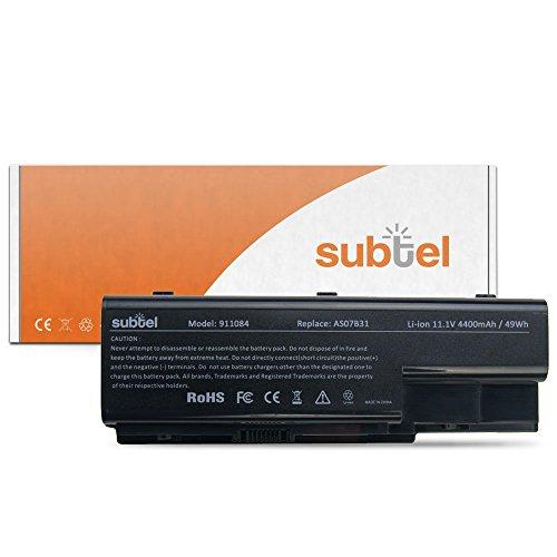 subtel Qualitäts Akku (4400mAh) für Acer Aspire 5220/5230/5310/5315/5320/5330/5520/5530/5710/5715/5720 AS07B41 (10.8V)* Notebookakku Laptopakku Ersatzakku Batterie
