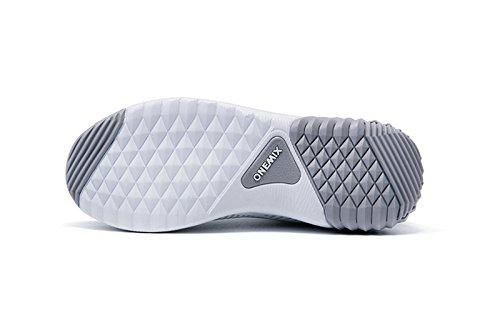 Onemix Unisex Air Scarpe da Ginnastica Corsa Uomo Sportive Running Donna Sneakers Fitness Interior Casual all'Aperto Bianco / Grigio