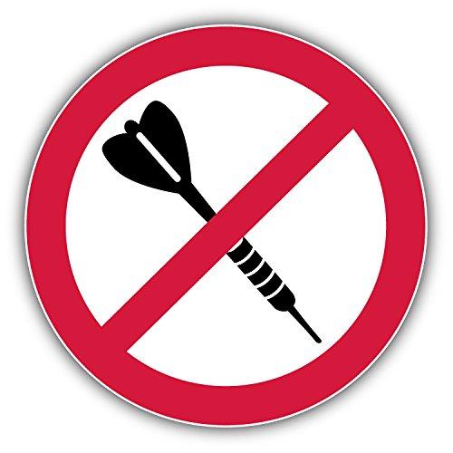 No Darts Ban Stop Sign Hochwertigen Auto-Autoaufkleber 12 x 12 cm (Dart-stop)