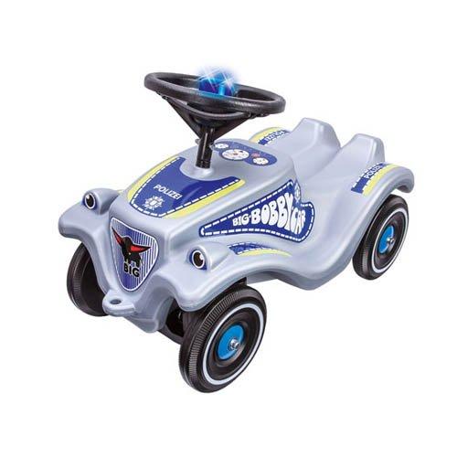 BIG Bobby Car Classic Polizei + Sound - Kinderrutscher Kinderfahrzeug Rutschfahrzeug