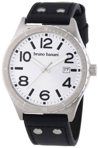 Bruno Banani Men's Quartz Watch Ares BR21021 with Leather Strap
