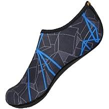 Goodsatar Calcetines del agua, Zapatos unisex de la piel del agua Baja arriba Buceo Buceo Calcetines de playa Buceo Calcetines de Snorkel Zapatos del fútbol del voleibol Para los deportes acuáticos Yoga (EU:42-43, Armada)