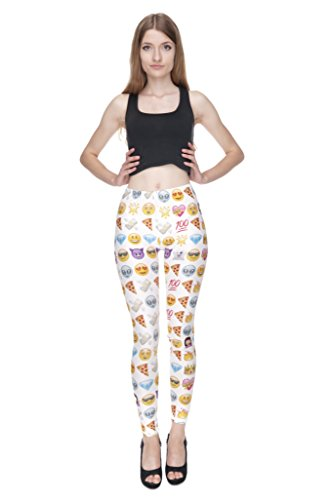 Yombre - Leggings sportivi -  donna Emoji Mix