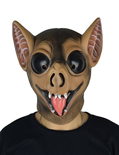 larpgears Halloween-Kostüm Party Latex Animal Maske Fledermaus Gummi Maske für (Kostüm Nase Fledermaus)