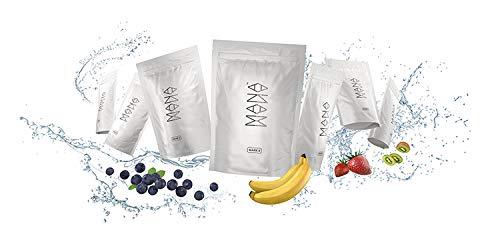 Mana Powder è un cibo nutrizionalmente completo al 100%. Vegano senza lattosio, senza OGM. Pronto in 60 secondi. 35 pasti x 400 kcal