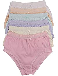 22cb722648f4 Ladies 6 Pairs of Full Cotton Briefs in Choice of Colours 36-54