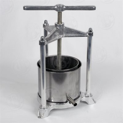 Pavi torchietto premitutto in alluminio pressofuso brillantato per alimenti con raccoglitore in acciaio inox.