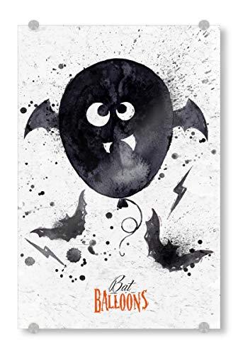 ild 45x30 cm Typografie Halloween Balloon - Bild Halloween Night Illustration ()