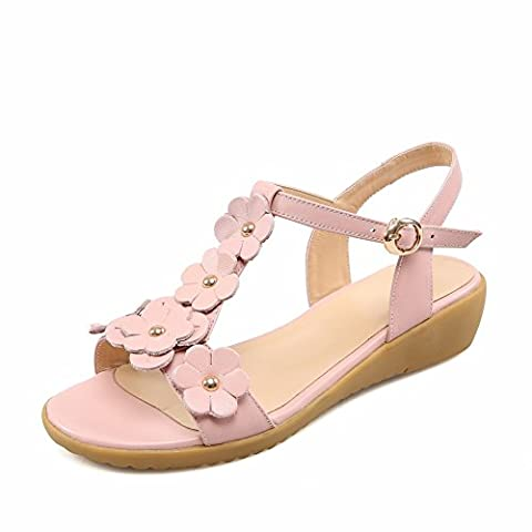Adee Womens Flowers Rain Pink Soft Material Sandals 3