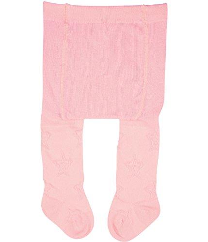 Vitasox 26021 Mädchen Erstlingsstrumpfhose Strumpfhose für Neugeborene einfarbig 2xrosé 50/56