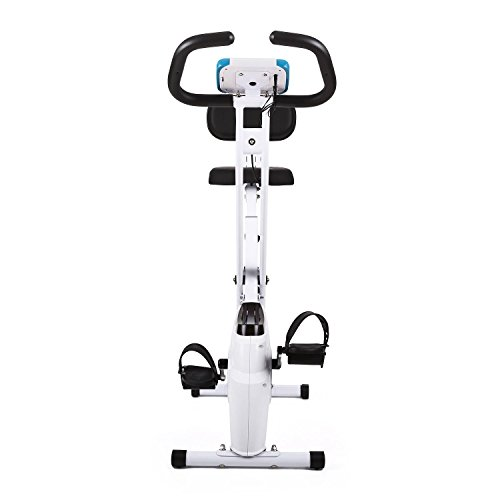 41dYi3PXs5L. SS500  - Klarfit Azura Comfort • Ergometer • Home Trainer • Fitness Bicycle • Cardio Bike • Training Computer • Pulse Meter • 8-step Adjustable Resistance • 3kg Flywheel • Backrest