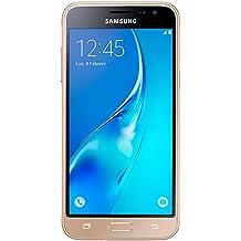 """Samsung Galaxy J3 - Smartphone libre de 5"""" (WiFi, Quad-core 1.2 GHz Cortex-A7, 1.5 GB de RAM, 8 GB de memoria interna, cámara de 8 MP, Android), color dorado (versión española)"""