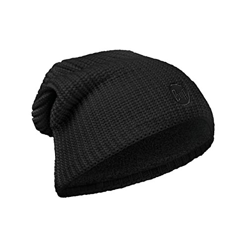 Original Buff - Knitted & Polar Hat Solid Unisex Adulto, talla unica, color drip black