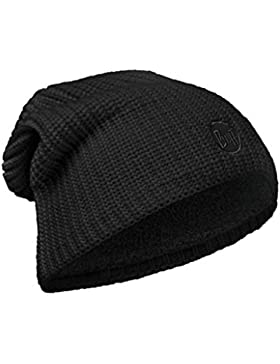 Original Buff - Knitted & Polar Hat Solid Unisex Adulto, talla unica, color drip black