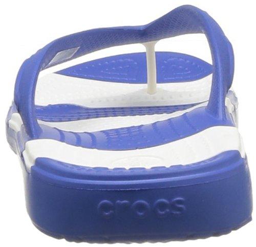 Crocs Beach Line Flip, Unisex-Erwachsene Zehentrenner Sandalen Blau (Sea Blue/White)