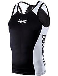 Boxeur Des Rues Fight Activewear Camiseta para boxeo con rejilla negro negro Talla:Medium