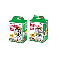 ‏‪40 sheets Fujifilm Instax mini 9 films white Edge 3 Inch for Instant Camera 7 8 25 50s 70 90 sp-1 sp-2 Photo paper(not include leather bag)‬‏