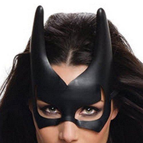 MyPartyShirt Batgirl Mask - Batwoman Kostüm Shirt