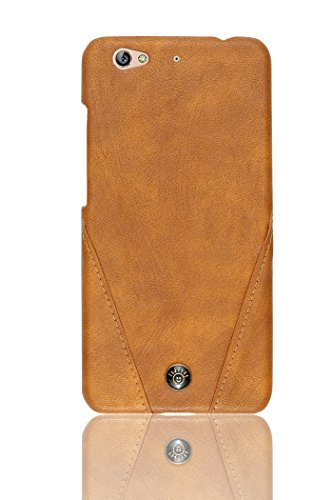 Parallel Universe® Luxury Stitched Champion PU Leather Back Case Cover for Gionee S6 - Brown