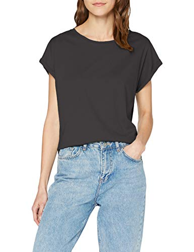Urban Classics Damen T-Shirt Ladies Extended Shoulder Tee, Farbe black, Größe L
